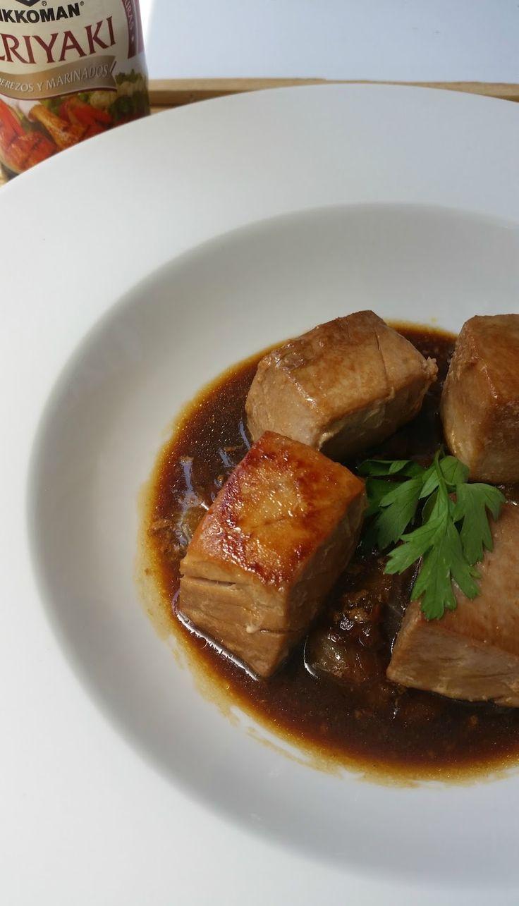 Atún encebollado en salsa teriyaki | Las cosas de mi cocina