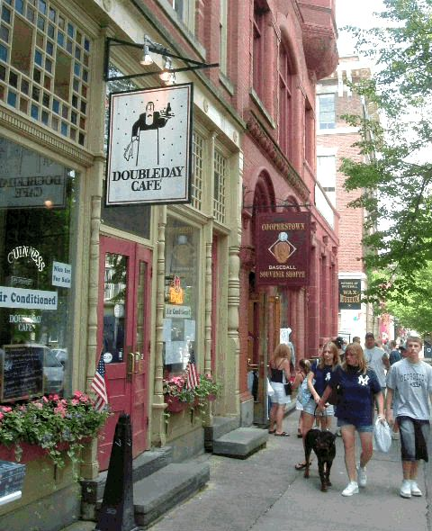 The Doubleday Cafe is one of our favorite places to eat on Main St. in Cooperstown.