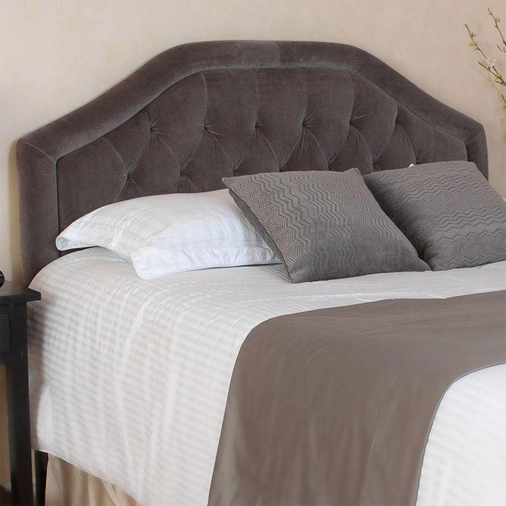 Noble House Celina Full/Queen Grey Suede Headboard 612566749