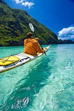 Blue water & Tropical Island Beach photos portfolio: South China Sea kayak paddling trip