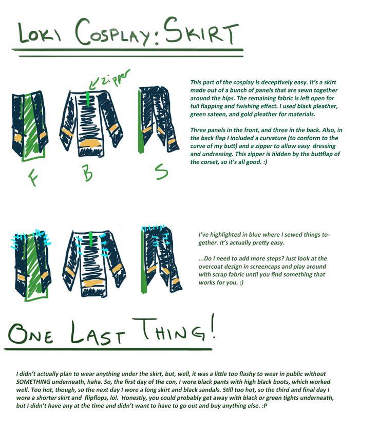 Loki cosplay guide: Skirt by SirLadySketch