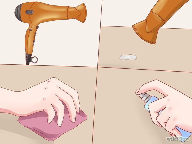 How to remove candle wax from wood floor or painted walls!!