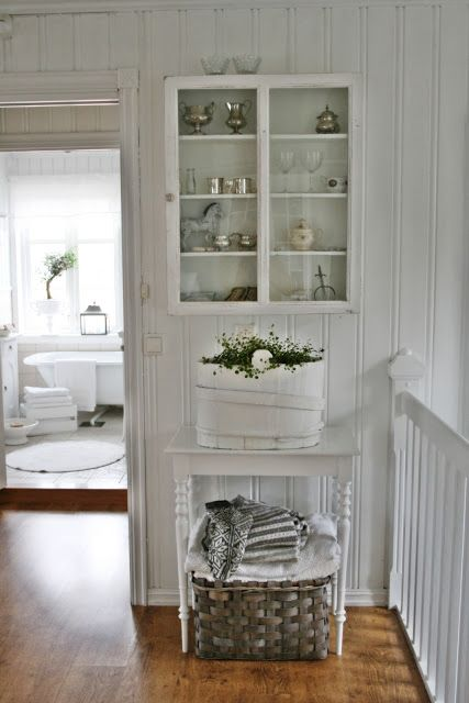 Tour of charming country cottage in Norway full of sweet vintage touches like this great little display unit — Eclectically Vintage