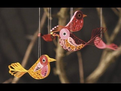 ▶ Quilling Birds - YouTube