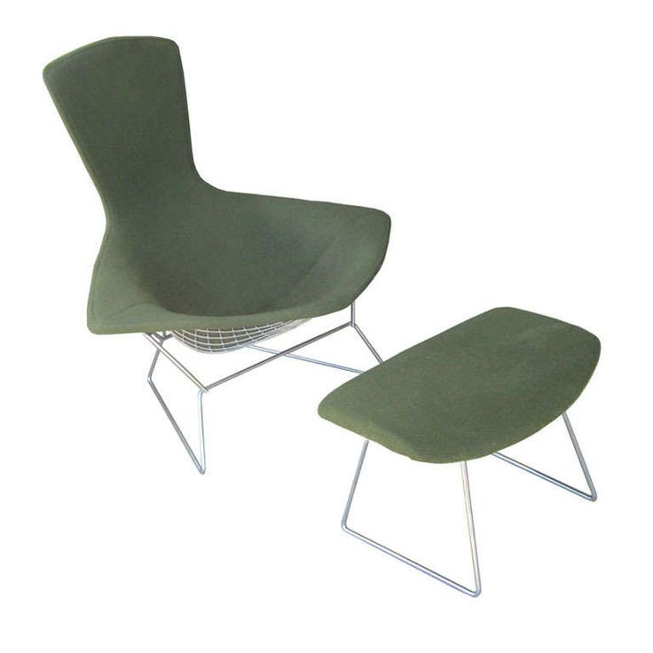 Harry Bertoia For Knoll Bird Lounge Chair With Ottoman