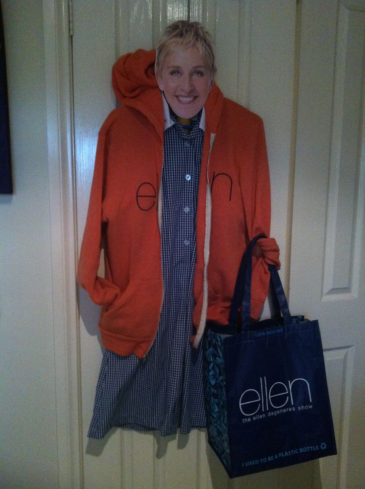 Yep Ellen nothing makes a school dress look cooler than an Ellen orange hoodie!! #bagthatellen & #doitinadress