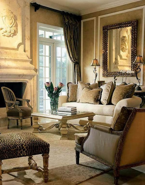 Beautifully Decorated Living Rooms For Christmas: Beautifully Decorated - Designed. Neutral Colors.