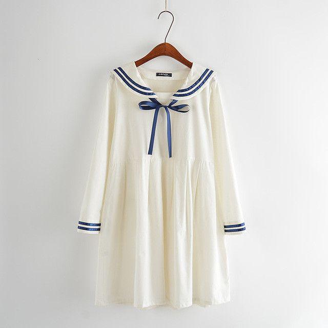 College school colors blue and white dress