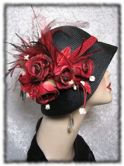 Red Roses & Ladies - I absolutely love this hat!! <3