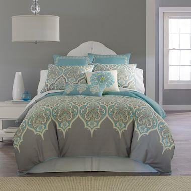 I love this comforter set it 39 s on sale at penneys for 80 kashmir comforter set jcpenney for Jcpenney bedroom furniture sale