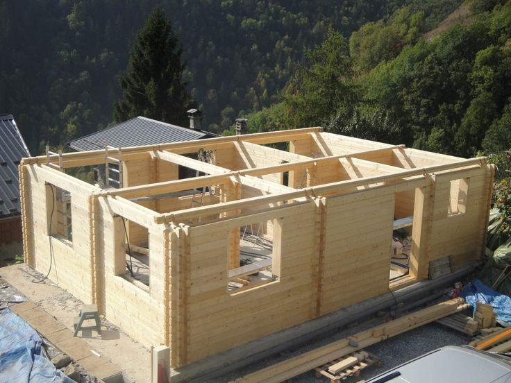 927 best maison madrier ou images on Pinterest Architecture - maison bois en kit toit plat