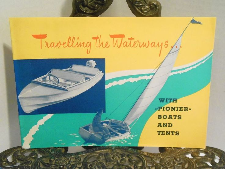 Travelling the Waterways with Pionier Boats and Tents Catalog Printed W Germany #Pionier
