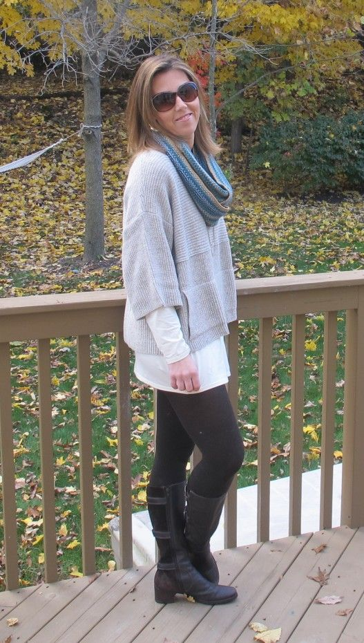 Cute oversized sweater with leggings and boots! | Fashion for the Modern Mom | Pinterest ...