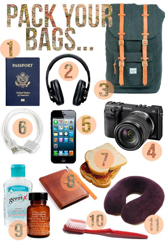 Todo lo que necesitas para un #viaje. #dontgoanywherewithoutthem