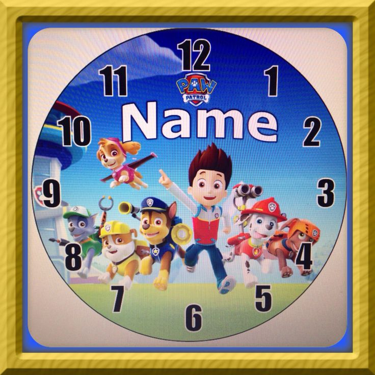 Personalized Paw Patrol Inspired Wall Clock By Dajshop On