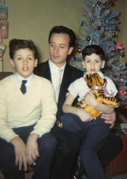 """Merry Christmas!""  The Stallone Family, Christmas morning, 1956"