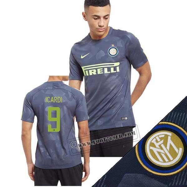 Promotion: Boutique Foot769fr Meilleur Flocage Maillot Inter Milan (Icardi 9) Third Bleu Marine Camouflage 2017 2018 Thailande Nouveau