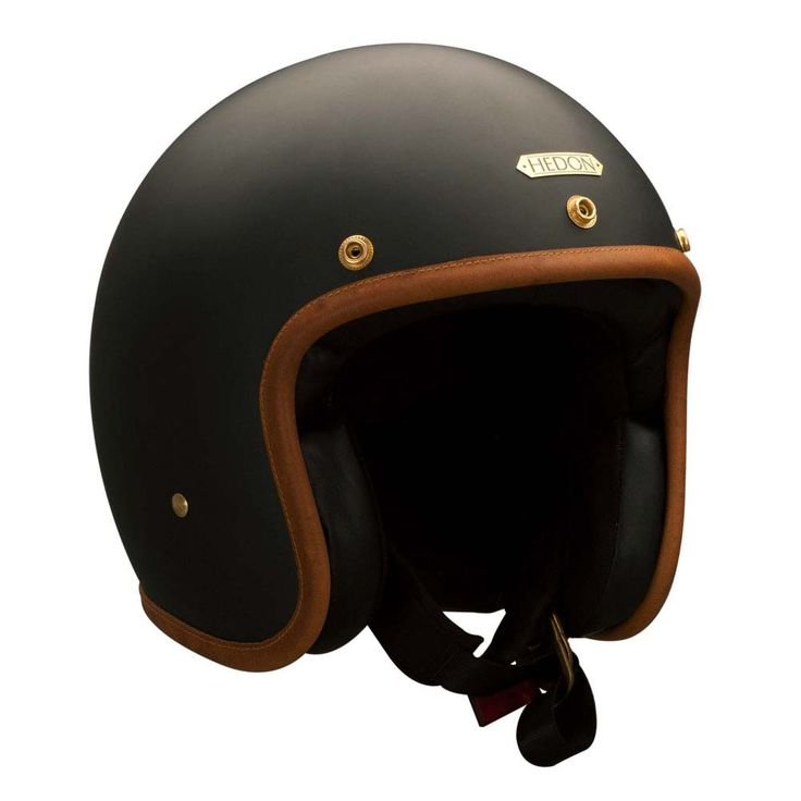 Hedon Hedonist Helmet - Stable Black | Open Face Motorcycle Helmets | FREE UK delivery - The Cafe Racer