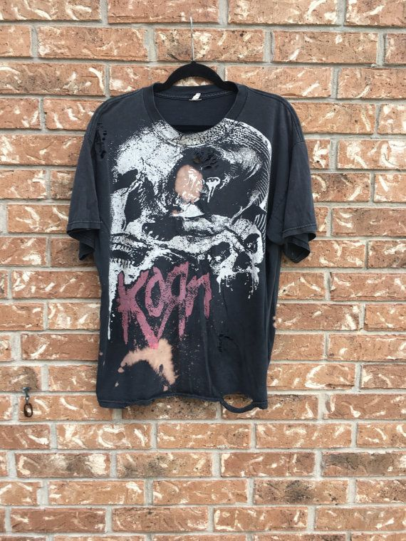 KORN  t shirt, Soft grunge distressed, hard rock, hippie, band shirt, concert tees
