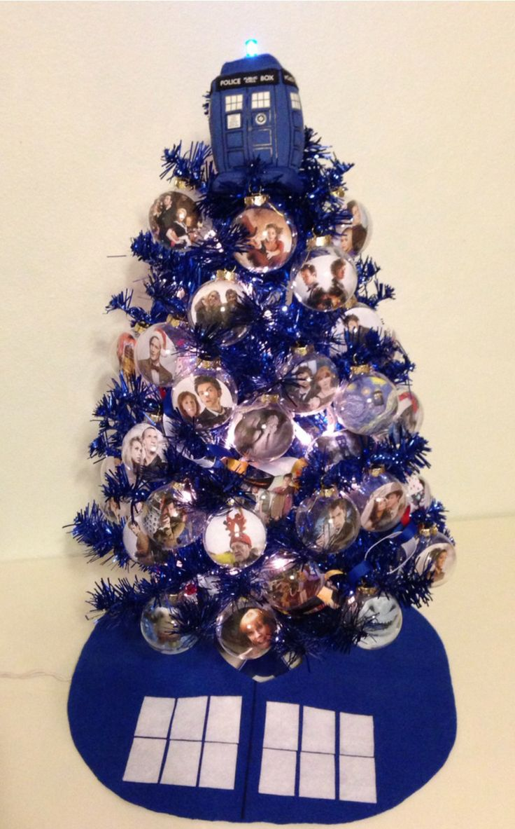 Blue and purple christmas tree decorations - Find This Pin And More On Lit Decorated Trees