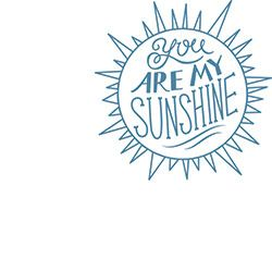 You Are My Sunshine Rubber Stamp from Paper Source