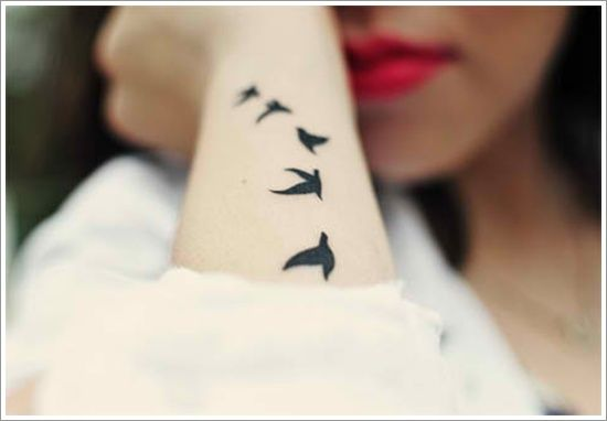 Swallow Bird Tattoo Designs For Girl On Arm, blue bird tattoo, dandelion bird tattoo ~ Look My Tattoo