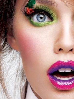 stunning makeup look... from Maybelline believe it or not!