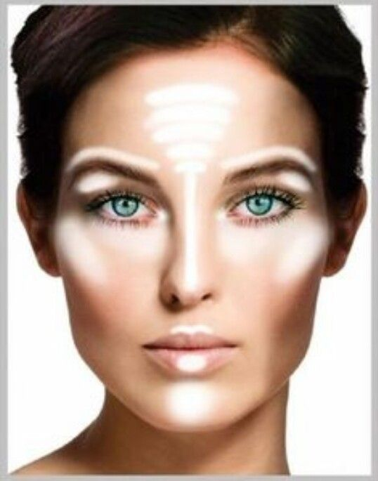 Highlight/Contour for oval face