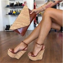 How about this shoe?  Share to get a coupon for all on FSJ Women's Brown Wedge Heel Sandals Open Toe heels Shoes