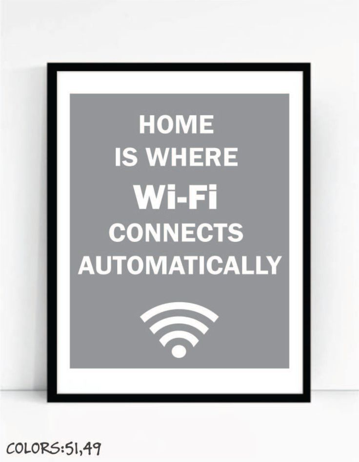 Printable Home Is Where Wi Fi Connects Automatically Art For Geeks by TalkingPictures on Etsy