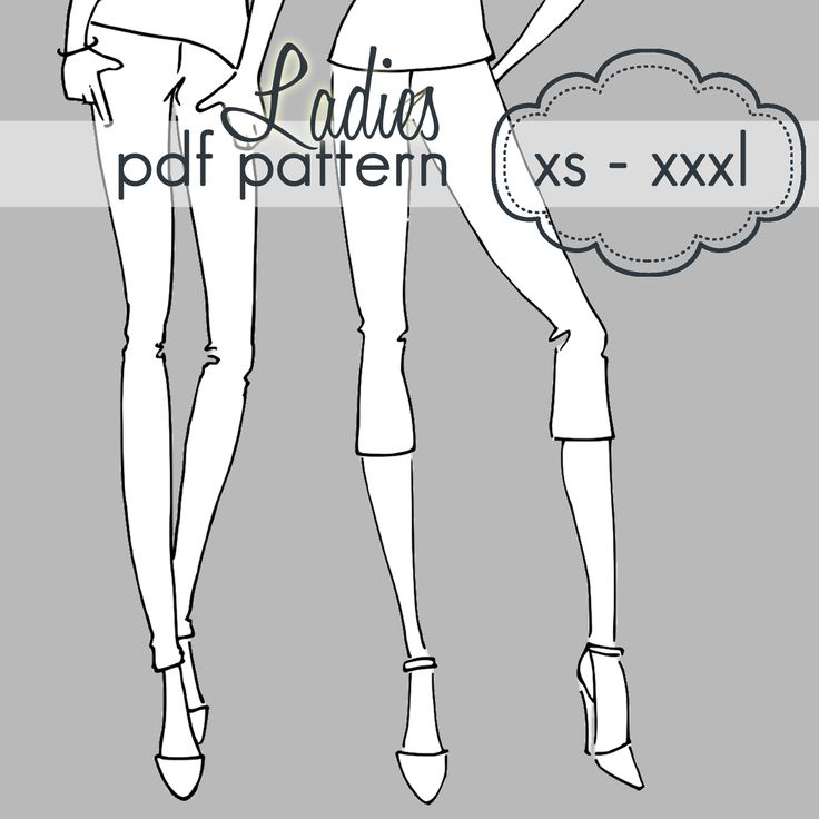 Ladies Basic Leggings - XS - XXXL - pdf sewing pattern