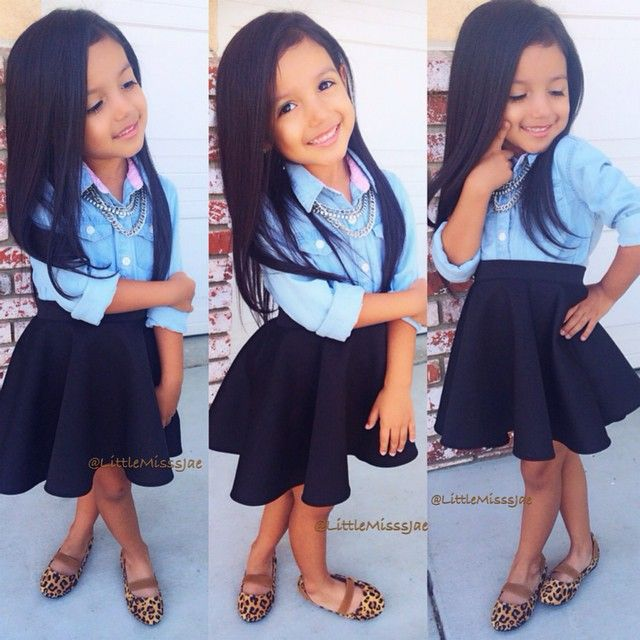 That moment when you see a kid with better fashion sense and prettier than you..