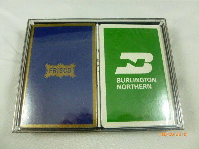 Vintage Frisco Burlington Northern Playing Cards USA New Advertising