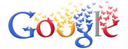 #Doodle publicado en #Google el 20 de julio de 2011 como homenaje a Colombia en el 201 aniversario de su Independencia, al diseñar un doodle con mariposas amarillas, azules y rojas, los colores de la bandera colombiana.