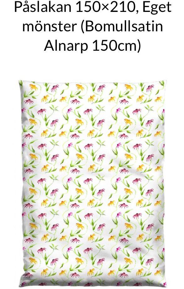 Bedlinen, own design. Printed at Elobina, Lomma Sweden