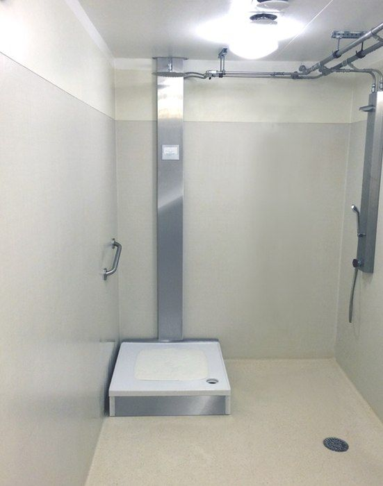 Orbital Systems' recycling shower claims to conserve 90% of its water
