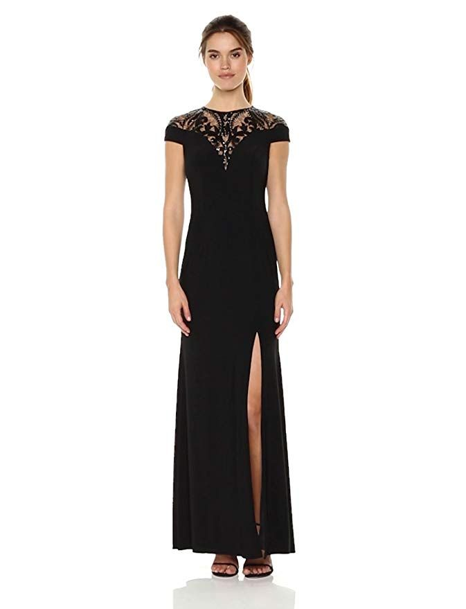 a479ccc8c8e5 Adrianna Papell Women's Sequin Jersey Dress, Black, 10 | NEW DRESSES ...