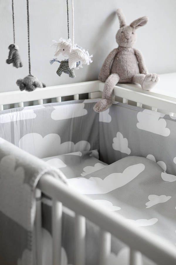 cloud bumper by nubie modern kids boutique | notonthehighstreet.com