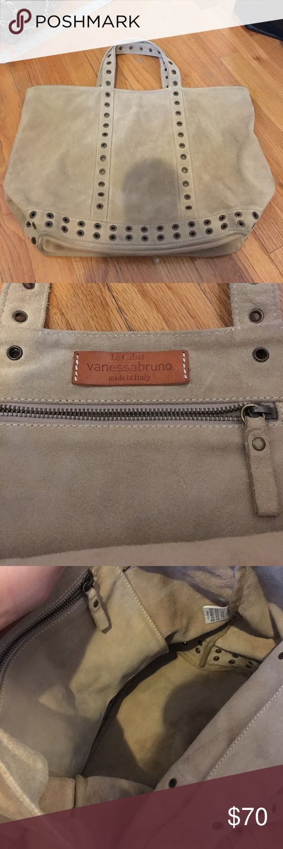 Vanessa bruno le cabas, 100% real suede Worn but lightly used Vanessa Bruno Bags Totes
