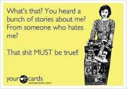 Ecard stories from someone who hates me?