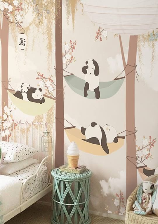 The wallpaper can be ordered in various sizes.