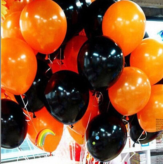 17 best ideas about black balloons on pinterest helium for Balloon decoration for halloween