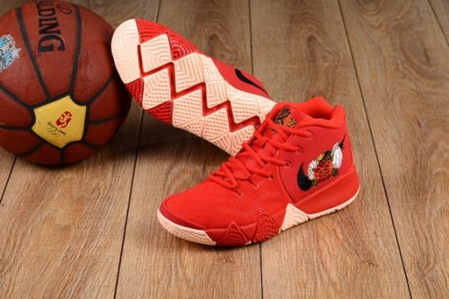 f8b51b3a5182 Genuine Nike Kyrie 4 CNY University Red Black-Team Red - Mysecretshoes