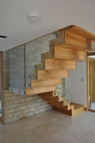 Cool stairs with glass balustrade