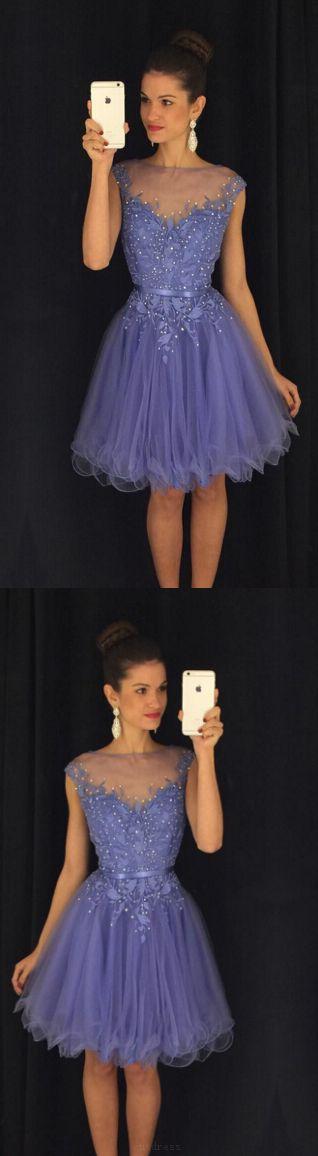 Homecoming Dresses Short, Purple Homecoming Dresses, Lace Homecoming Dresses, Short Homecoming Dresses, Purple Lace dresses, Short Lace dresses, Short Purple Dresses, Beautiful Purple Lace Beaded Handmade Classy Short Homecoming Dresses