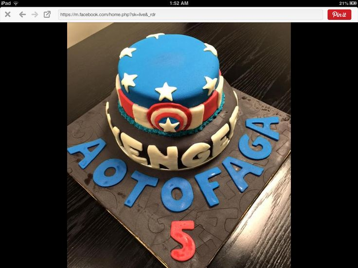 Super hero themed cake 5th birthday 2015