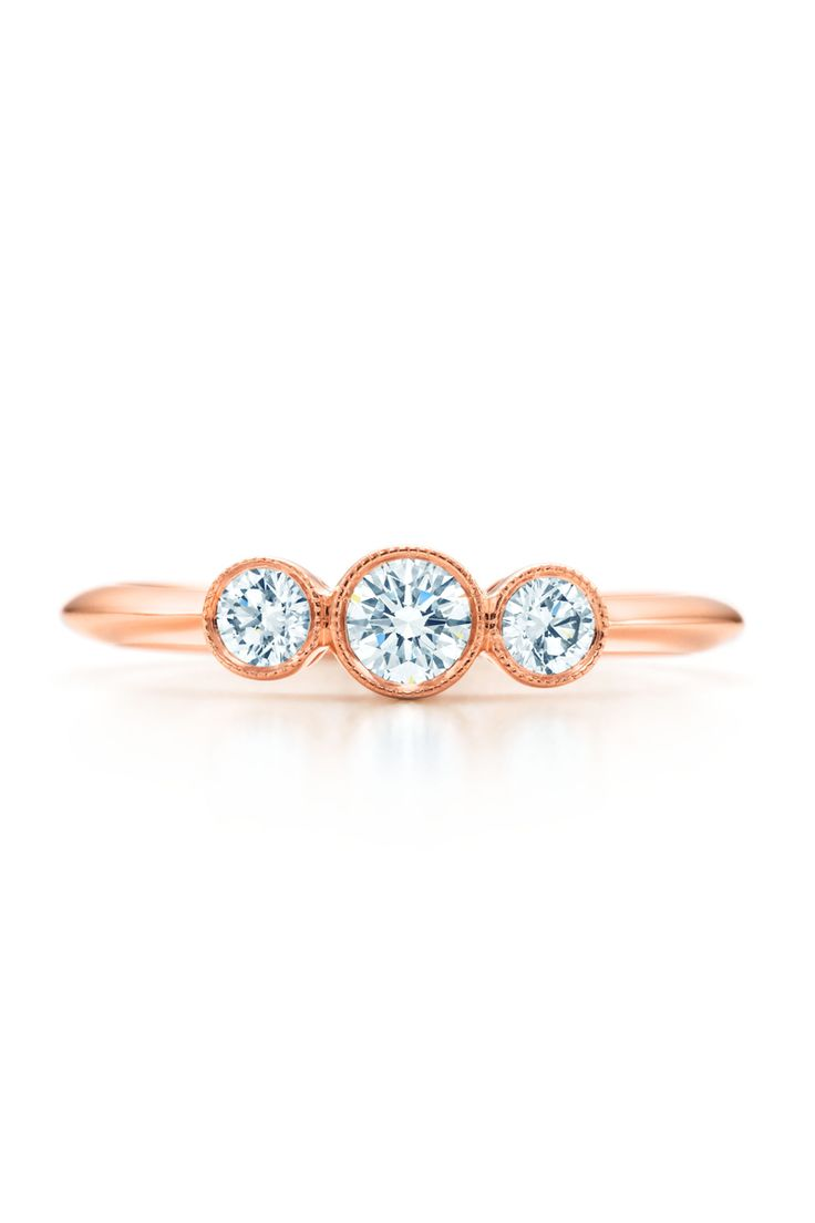 As beautiful as large diamonds may be, I'm obsessed with this ring. I'd even say it'd make a perfect engagement ring. / Tiffany & Co.