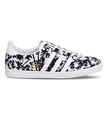 ADIDAS Gazelle OG floral-print woven trainers
