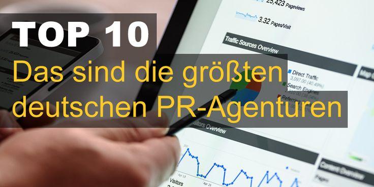 Das sind die größten deutschen PR-Agenturen. Ergebnisse des Pfeffer PR-Ranking. 2016 legte der Markt um 4,9 Prozent zu. Jetzt Top 10 Liste ansehen.