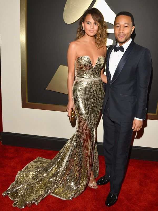 Chrissy Teigen & John Legend attend the 56th GRAMMY Awards